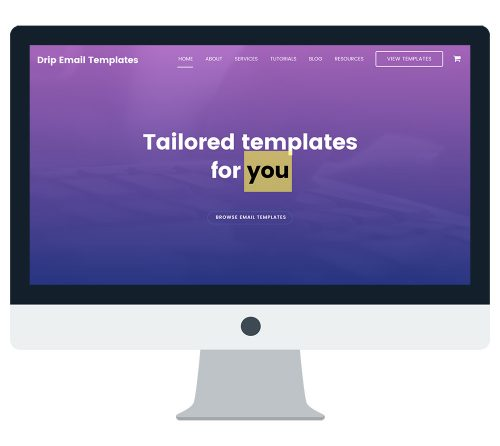 Drip Email Templates Website
